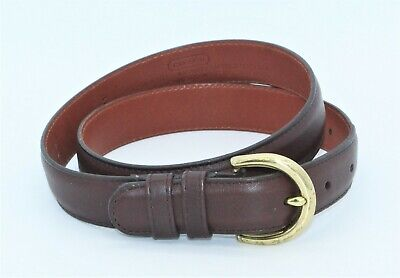 COACH Women's Hand Glove Tanned Brown Leather Belt Size Small - Costa Rica
