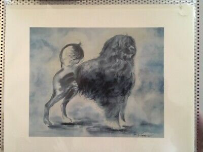 Portuguese Water Dog - Water Color Print By Tina Evans - 8.5X11