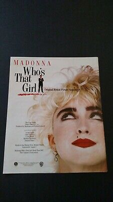 "Madonna "" Who's That Girl ""  1987  Rare Original Print Promo Poster Ad"