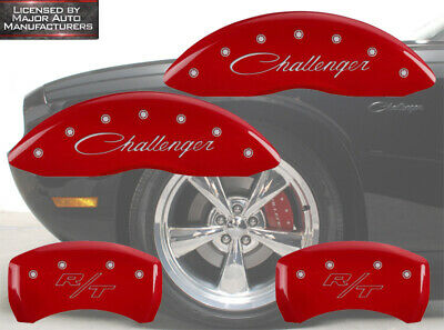MGP Caliper Covers Engraved Front /& Rear for 09-14 Cadillac CTS JE5 Brakes Red
