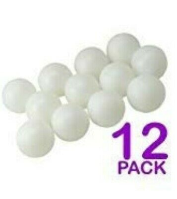 Plain White Table Tennis Training INDOOR Ping Pong Beer Balls (Pack of 12)