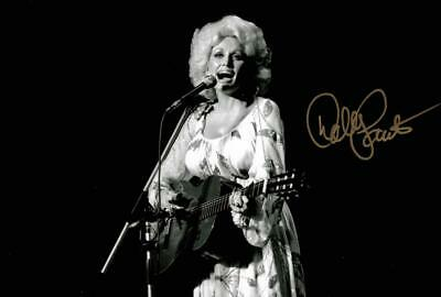 """Dolly Parton Autographed 12x8"""" photo with C.O.A"""