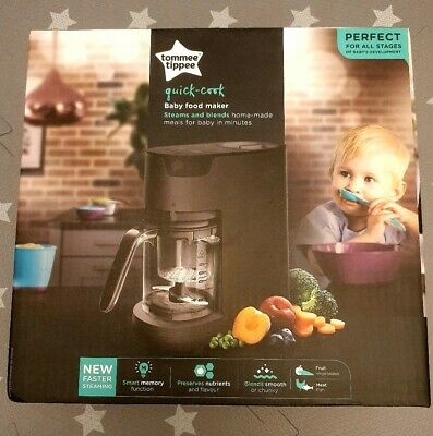 Tommee Tippee Quick Cook Food *BLACK* BNIB. Weaning / Steamer/ Blender