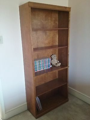 Poplar Wood 6 Ft Tall, 32 Inch Wide Book Case, Beautiful Finish Superb Condition