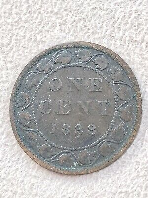 1888 Canada One Cent Large Coin Copper