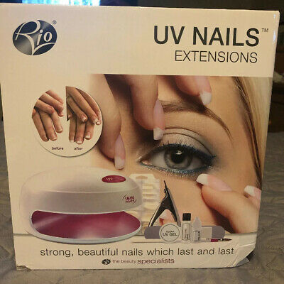 Rio UV Gel Nail Extensions Home Kit & Professional Manicure Tips Set. Brand New