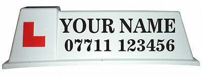 Driving School Roof Sign Graphics, Stickers for Car Roof Sign (N01)