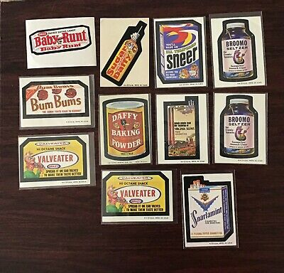 1974 Topps WACKY PACKAGES 6th Series - lot of 11 stickers