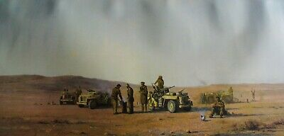 "SAS ""EVENING IN THE DESERT"" PRINT LIMITED EDITION BY DAVID SHEPHERD No 105/850"