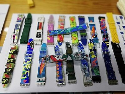 Replacement Vintage Resin Swatch watch straps 17mm (20mm) 100pcs= 38$ mix colour
