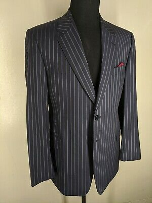 Paul Smith Made In Italy Wool & Cotton Suit 2 Btn Side Vents 44 L--Fit 42 Long
