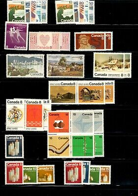 Canada 1972 Year Set with tagged issues MNH