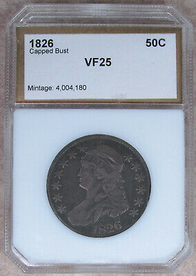 1826 Capped Bust Half Dollar - Nice Very Fine Early Type Coin