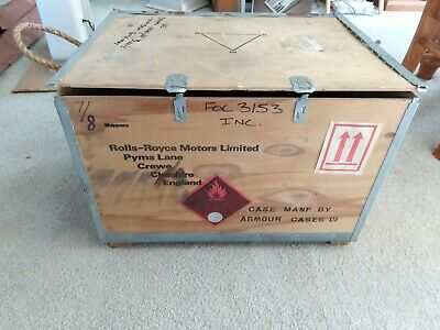 Rolls Royce Motors Wooden Shipping Crate