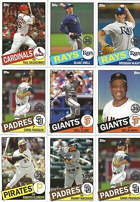 2020 Topps Series 1 1985 Topps Baseball 35th Anniv - You Pick the Cards