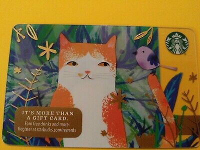 """Starbucks gift card 2016 """"CALICO CAT"""" CALING ALL CAT LOVERS 🐱~NO VALUE~ RARE"""