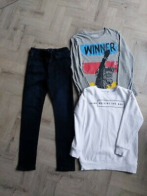 Next Boys Skinny Jeans And Top Bundle Excellent Age 7/8 Yrs Condition Worn Twice