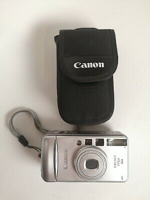 Canon Sure Shot 115u Date 35mm Film Camera, film tested, new battery, manual