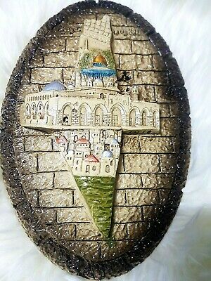 Unique Handmade Carved Palestine map/mosque Art Figurine Souvenir✌✌