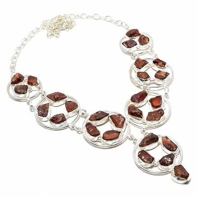 """Red Carnelian Rough 925 Sterling Silver Jewelry Necklace 18"""" SH"""