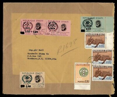 Dr Who 1968 Haiti To Usa Registered Multi Franked Lc165917