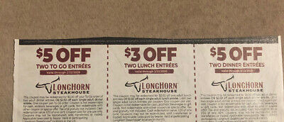 3 Longhorn Steakhouse Coupons