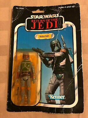 83 Vintage Kenner Star Wars Return of the Jedi 77Bk Boba Fett Action Figure MOC