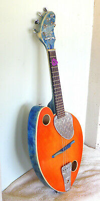 """""""Hydemade"""" 5 String Acoustic / Electric Mandolin / Video / Free New Gigbag Sale"""