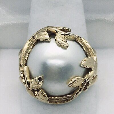14k Gold Ring With A Large Mabe Pearl (16mm)