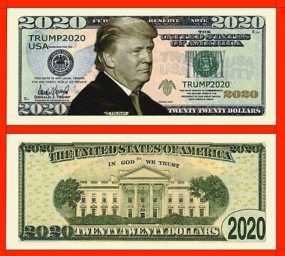 Pack of 500 - Donald Trump 2020 Presidential Re-Election Novelty Dollar Bills