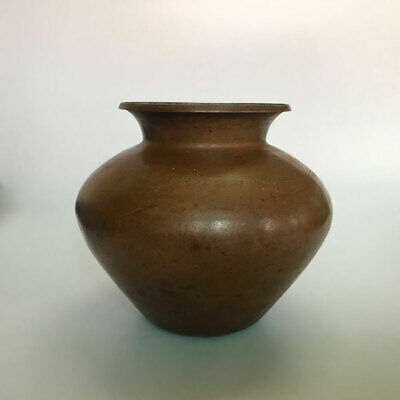 An old or antique Hindu Traditional Ritual copper lota or vase Collectible