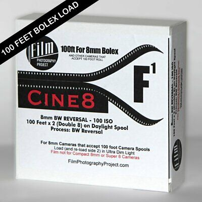 DOUBLE 8 (regular 8) FILM - CINE8 BW REVERSAL 100 (100 FT - 100 ISO)