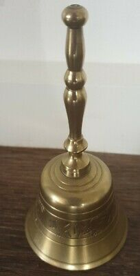 Lovely Vintage Ornate Brass Service Bell