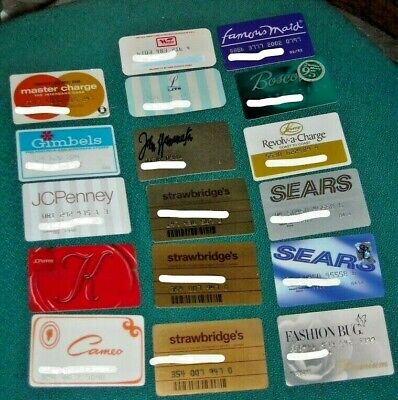 Lot of 17 Vintage Charge Cards. Woolco, Master Charge, Gimbels, Lits & more!