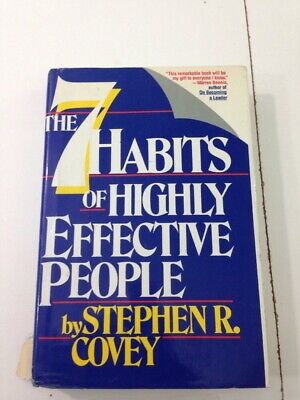 The Seven Habits of Highly Effective People - Stephen R. Covey (1989, HC, DJ)