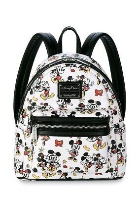 NEW Disney Parks LOUNGEFLY Mickey and Minnie Mouse Mini Backpack 2020 NWT
