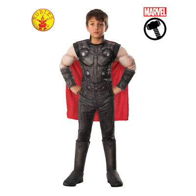 THOR LICENSED MARVEL DELUXE CHILDREN'S COSTUME 3 x SIZES BY RUBIE'S **NEW**