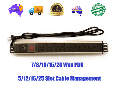 TOP QUALITY PDU 7 To 20 Outlets PDU Heavy Duty + 5 To 25 Slot Cable Management