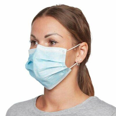 Smog SARS Dust Coronavirus Flu Medical Surgical Face Mask 100pcs pack