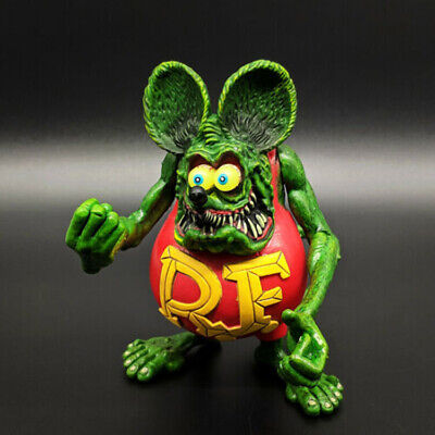 Green Rat Fink Ed! Big Daddy Roth RF Action Figure 4""