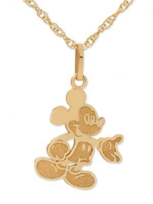 Disney 10kt Yellow Gold Full Body Mickey Mouse Pendant Necklace with