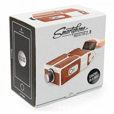 Mini Portable Cardboard Smart Phone Projector for Home Theater Projector KW