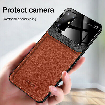 For Samsung S20 S10 Plus Ultra S10E Leather Case Camera Protect Hybrid Cover