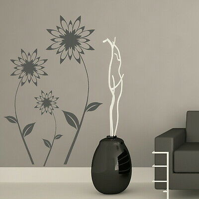Interior Wall Decal Pond Flower Wall Sticker Large Floral Wall Transfer ne25