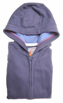 FAT FACE Boys Hoodie Sweater 8-9 Years Navy Blue Cotton  HV07
