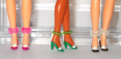 3 pairs of custom handcrafted shoes for Palitoy Pippa also fits Dawn!