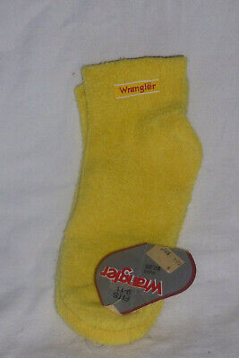 Vintage Wrangler Ankle Socks Yellow NOS  NEW Size 9-11