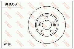 2x Brake Discs Pair Vented 280mm BBD5313 Borg /& Beck Set 517124V000 51712A6000