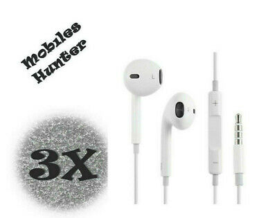 3X Brand New InEar Earphones Headphones With Mic For  iPhone All Mobiles