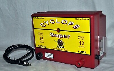 Cyclops Super 12 Joule, 200 Acre | Ac Powered Electric Fence Charger Energizer